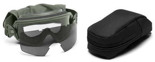Smith Elite Outside The Wire Military Goggle with Foliage Green Frame and Clear and Gray Lenses