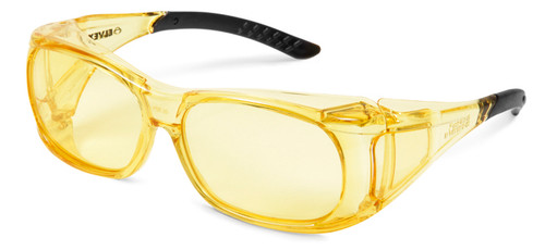 Elvex OVR-Spec II Safety Glasses with Amber Frame and Amber Lens