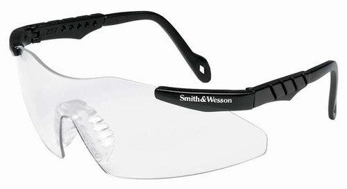 mith & Wesson Magnum Safety Glasses with Black Frame and Clear Lens