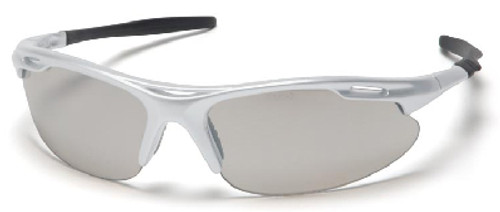 Pyramex Avante Safety Glasses with Silver Frame and Indoor/Outdoor Lens