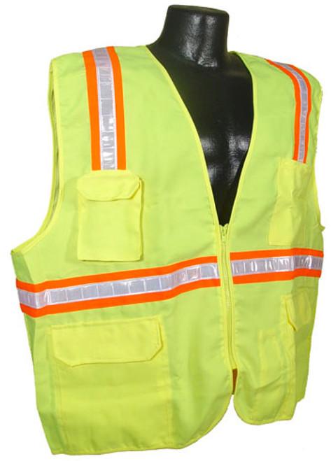 Radians SV6 Two Tone Surveyor Class 2 Hi-Viz Green Safety Vest