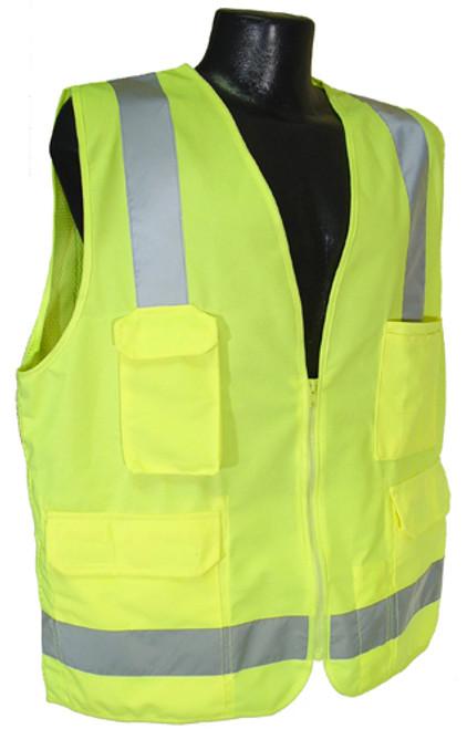 Radians SV7 Surveyor Class 2 Hi-Viz Green Safety Vest