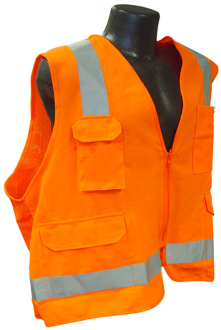 Radians SV7 Surveyor Class 2 Hi-Viz Orange Safety Vest