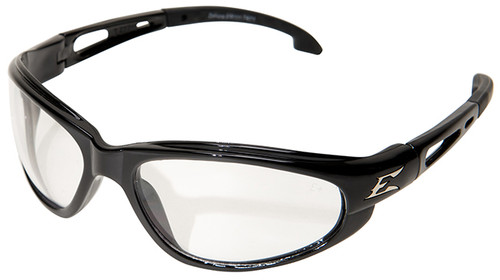 Edge Dakura Safety Glasses with Black Frame and Clear Vapor Shield Lens