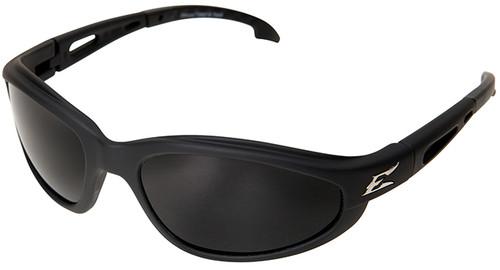 Edge Dakura Polarized Safety Glasses with Black Frame and Smoke Lens