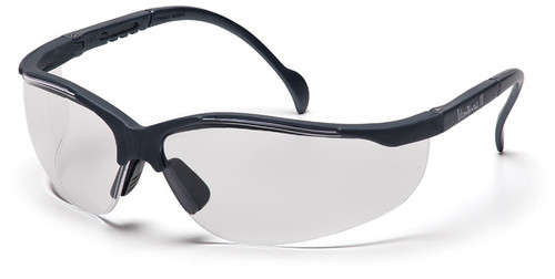 Pyramex Venture 2 Safety Glasses with Slate Gray Frame and Clear Lens