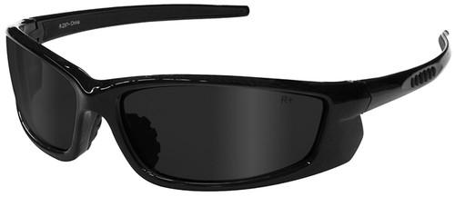 Radians Voltage Safety Glasses with Black Frame and Smoke Lens