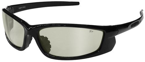 Radians Voltage Safety Glasses with Black Frame and Indoor/Outdoor Lens