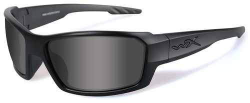Wiley X Rebel Black Ops Safety Sunglasses with Matte Black Frame and Smoke Lens