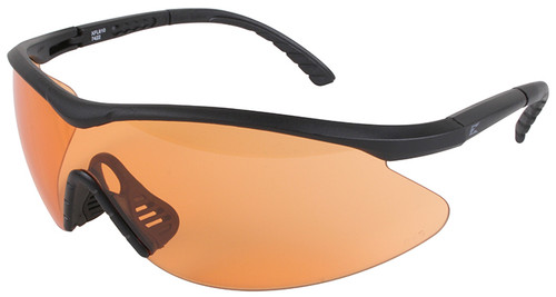 Edge Fast Link Tactical Safety Glasses with Black Frame and Tiger's Eye Lens