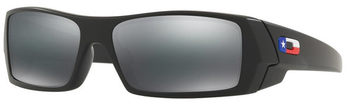 Oakley SI Gascan Sunglasses with Matte Black Texas Flag Frame and Grey Lens