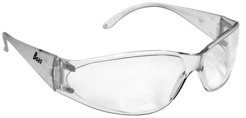 ERB Boas Safety Glasses with Clear Frame and Clear Lens