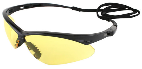 Jackson Nemesis Safety Glasses with Black Frame and Amber Lens