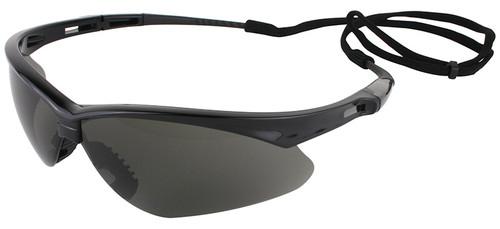 Jackson Nemesis Safety Glasses with Black Frame and Anti-Fog Smoke Lens