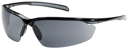 Bouton Commander Safety Glasses with Black Frame and Gray Anti-Fog Lens