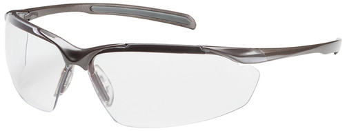 Bouton Commander Safety Glasses with Bronze Frame and Clear Anti-Fog Lens