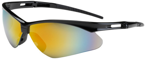 Bouton Anser Safety Glasses with Black Frame and Red Mirror Lens