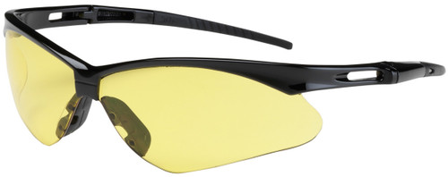 Bouton Anser Safety Glasses with Black Frame and Amber Lens