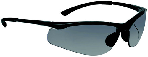 Bolle Contour Safety Glasses with Gunmetal Frame and Smoke Anti-Scratch and Anti-Fog Lens