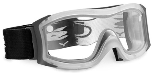 Bolle Duo Safety Goggle with Frosted Frame and Clear Double Anti-Scratch and Anti-Fog Lens