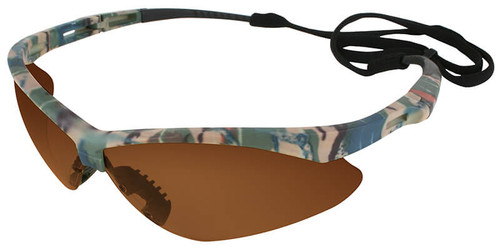 Jackson Nemesis Safety Glasses with Camo Frame and Bronze Lens