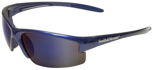 Smith & Wesson Equalizer Safety Glasses with Blue Frame and Blue Mirror Lens