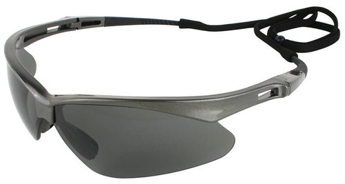 Jackson Nemesis Polarized Safety Glasses with Gunmetal Frame and Smoke Lens - Left Side View