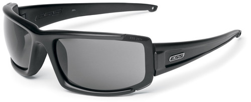 ESS CDI MAX Ballistic Interchangeable Sunglasses with Black Frame and Clear and Smoke Lenses