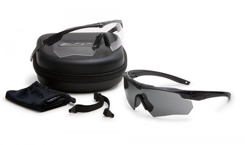 ESS Crossbow Suppressor 2X Kit with Black Frames and Clear and Smoke Gray Lenses