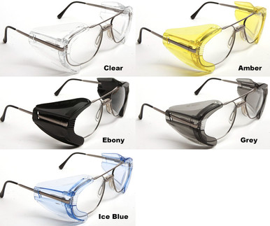 safety glasses side shields safety optical b22 mhs slip on sideshields 10 pr pack 10123