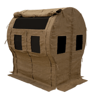 Muddy Portable Bale Blind with black windows out