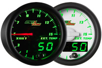 MaxTow Double Vision 1500 Degree Pyrometer EGT Gauge