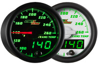 MaxTow Double Vision Transmission Temperature Gauge