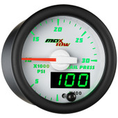 White MaxTow Double Vision 30,000 PSI Fuel Rail Pressure Gauge
