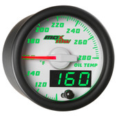 White MaxTow Double Vision Oil Temperature Gauge