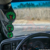 2000-2006 Chevrolet Silverado Duramax Triple Pillar Pod with Black & Green MaxTow Gauges
