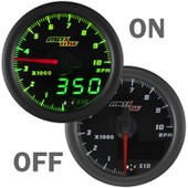 MaxTow Double Vision Tachometer 10,000 RPM Gauge On/Off
