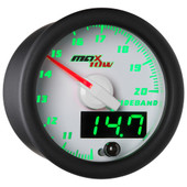 White MaxTow Double Vision Wideband Air/Fuel Ratio Gauge