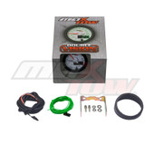 White & Green MaxTow Tachometer Gauge Unboxed
