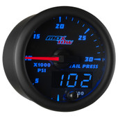Blue MaxTow 30,000 PSI Fuel Rail Pressure Gauge