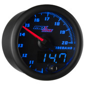 Blue MaxTow Double Vision Wideband Air/Fuel Ratio Gauge