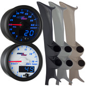 99-07 Ford Super Duty Power Stroke Full Size Dual Blue MaxTow Custom Gauge Package