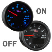 Black & Blue MaxTow Boost Vacuum Gauge On/Off