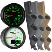 11-16 Ford Super Duty Power Stroke Green MaxTow Custom Gauge Package