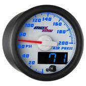 White & Blue MaxTow Air Pressure Gauge