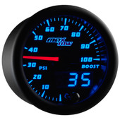 Blue MaxTow 100 PSI Diesel Boost Gauge