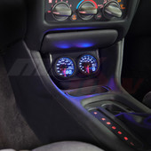 Universal Dual Gauge Under Dashboard Mounting Bracket Pod Installed
