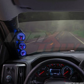 2014-2018 Chevrolet Silverado Duramax Triple Pillar Pod Installed Straight View