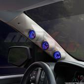 2014-2018 GMC Sierra Duramax Tan Triple Pillar Pod Installed Angled View