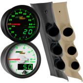 2014-2018 GMC Sierra Duramax Green MaxTow Custom Gauge Package Thumb